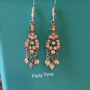 Jewelry - Old Rhinestone Earrings, Chandler Earrings